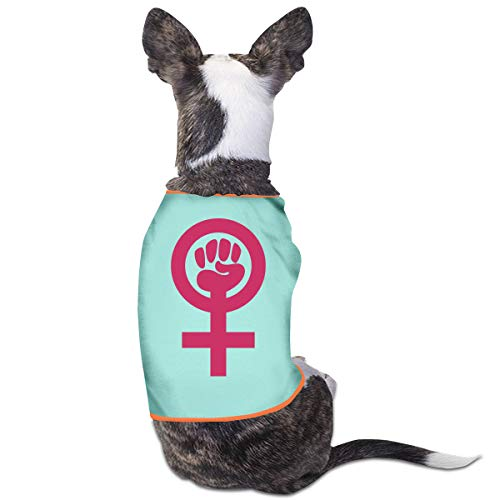 Jmirelife Puppy Dogs Shirts Costume Pets Clothing Feminist Fist Small Dog Clothes Vest]()