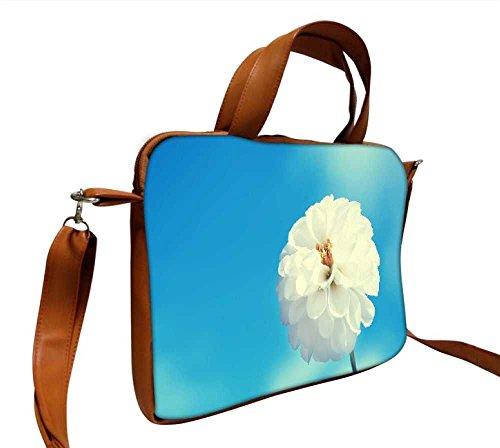 Snoogg Beautiful Flower Bilder Designer, 43,2cm Zoll auf 44,5cm Zoll zu 44,7cm Zoll Kunstleder Laptop Notebook Schuber Sleeve, der Fall mit und Schultergurt für MacBook Pro Acer Asus Dell HP Sony T