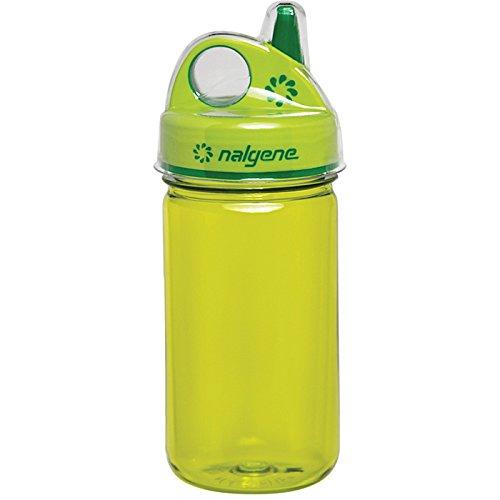 Nalgene Grip N-gulp - Nalgene Grip-N-Gulp Bottle with Cover, Green, 12 oz