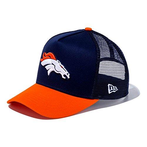 家具創造排泄するNew Era(ニューエラ) NFL ブロンコス 9FORTY Dフレーム トラッカー メッシュ キャップ ネイビー/オレンジ