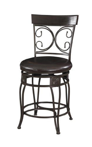 Powell Kitchen Bar Stool - Powell Big and Tall Back to Back Scroll Counter Stool
