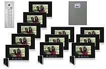 Video Intercom System Eleven 7 Color Monitor Black Power Supply Kit