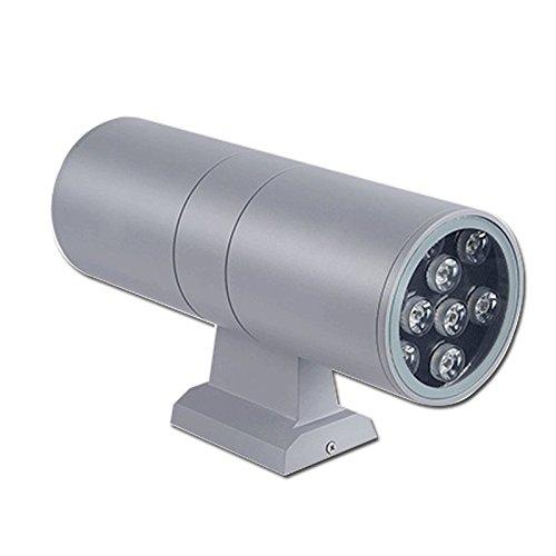 GYHTXHJPET LED doppio su e giù, 12W luce bianco esterno muro luce lanterna in Acciaio Inossidabile luce Spot Giardino Lampada impermeabile
