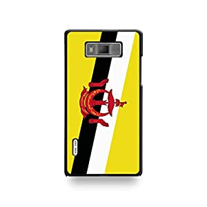 LD coqlgl7_29 funda con tapa para LG Optimus L7-Brunei de la bandera de