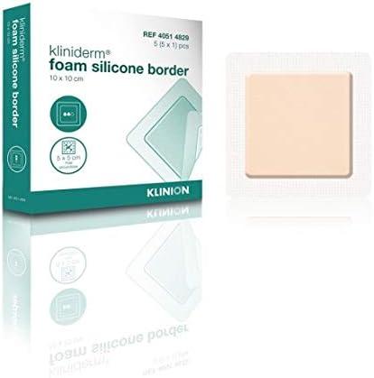 KLINIDERM 4051 4829-10 X 10 CM - Bordes de espuma de silicona (10 x 10 cm): Amazon.es: Belleza