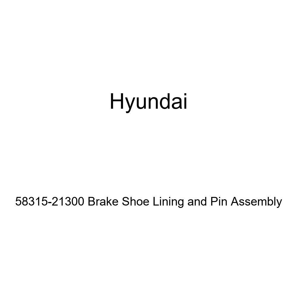 Genuine Hyundai 58315-21300 Brake Shoe Lining and Pin Assembly