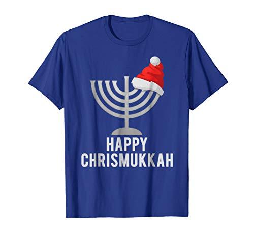 Mens Happy Chrismukkah Funny Hanukkah and Christmas Gift T-shirt 2XL Royal Blue