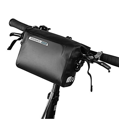 OUTON 2 in 1 Waterproof Bicycle Handlebar Bag & Shoulder Bag, Adjustable 2.5L-3L, Cycling Bike MTB Quick-Release Front Basket Frame Pouch PVC Tube Bag Roll Top Front Pannier - Front Pannier