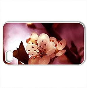 Blooming White - Case Cover for iPhone 4 and 4s (Flowers Series, Watercolor style, White)