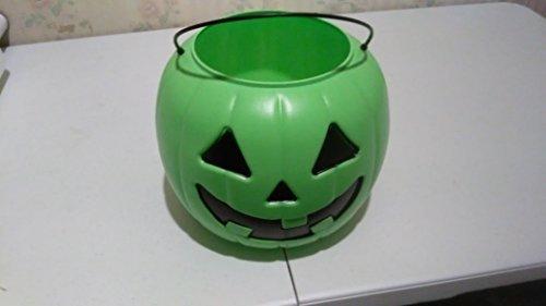 Green Lantern Halloween Bucket (Halloween Pumpkin Jack O Lantern Candy Bucket)