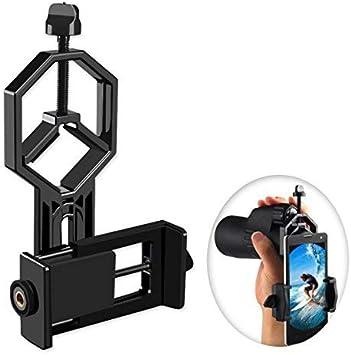 Fernglas Mikroskop Mikroskop Monokular Spektiv Geeignet f/ür Alle Typen Handy Smartphone Okular- und Smartphone Handy Halterung Adapter Mount f/ür Teleskop