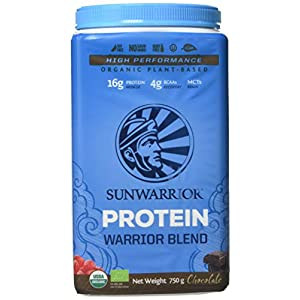 Sunwarrior Warrior Blend Organic Raw Vegan Protein Powder, Chocolate, 750g
