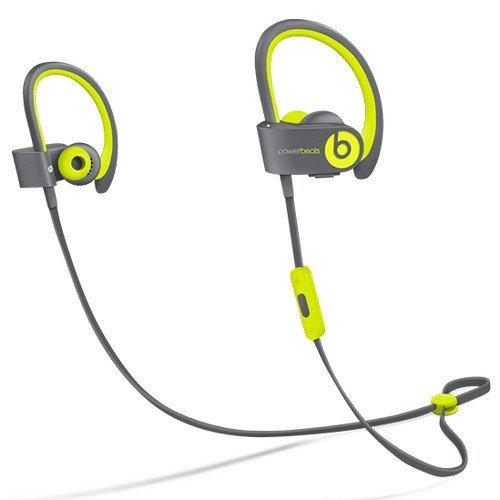 Beats by Dr dre Powerbeats2 Wireless In-Ear Bluetooth Headphone with Mic – Shock Yellow (Renewed)