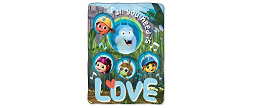 "Price comparison product image Beat Bugs All You Need Is Love Blue Throw Blanket (46""x60"")"