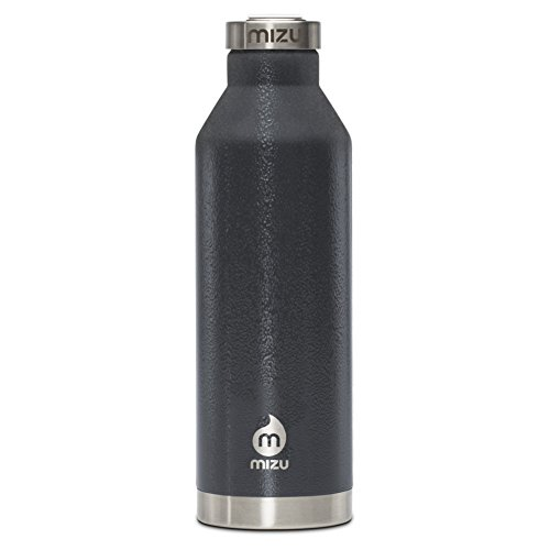 Mizu V8 w Steel Cap Flask One Size Grey Hammer by Mizu