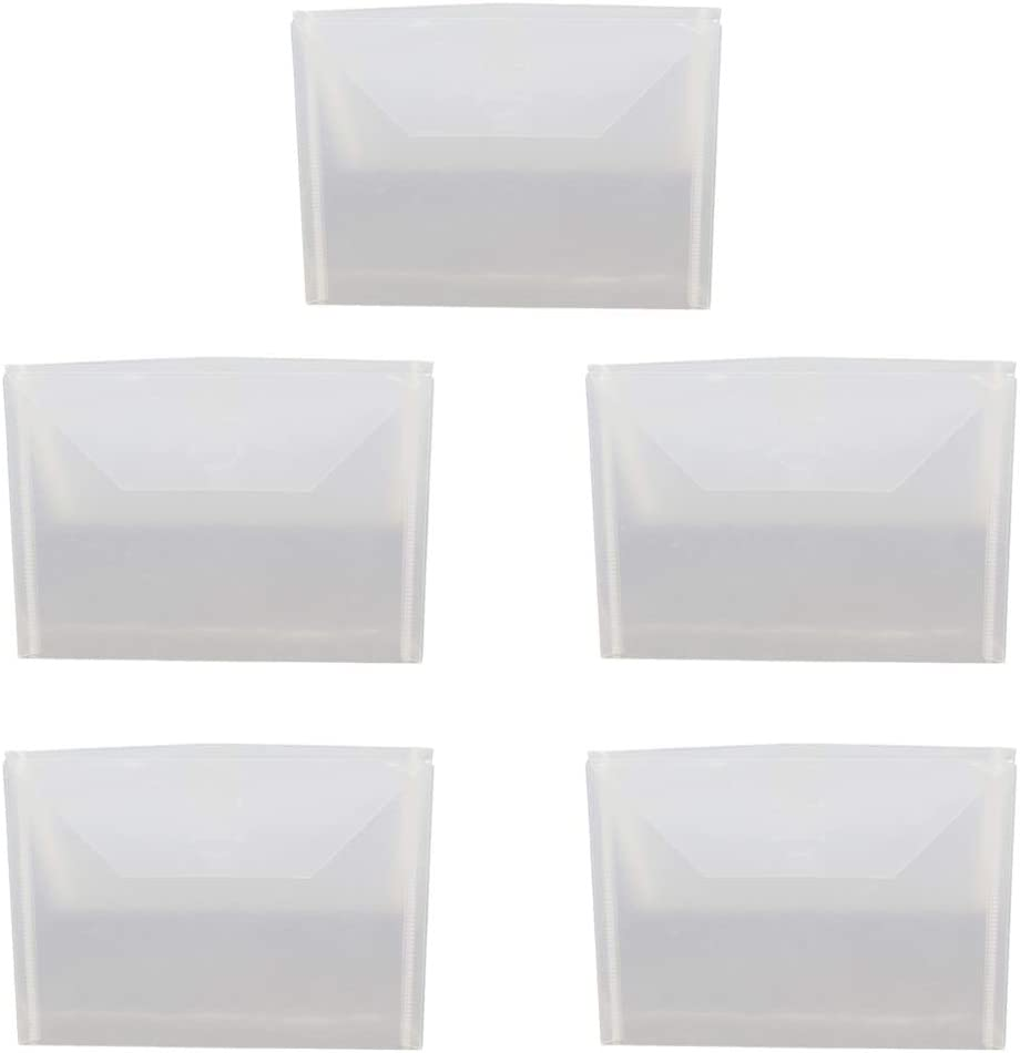 PENG 5 Piezas de Bolsas de Sellado de plástico Transparente con Cierre hermético Caja de Almacenamiento para Troqueles de Corte álbum de Plantillas