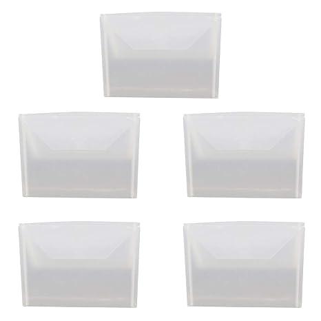 Ocobudbxw 5 unids Sellado de Plástico Transparente Bolsa de ...