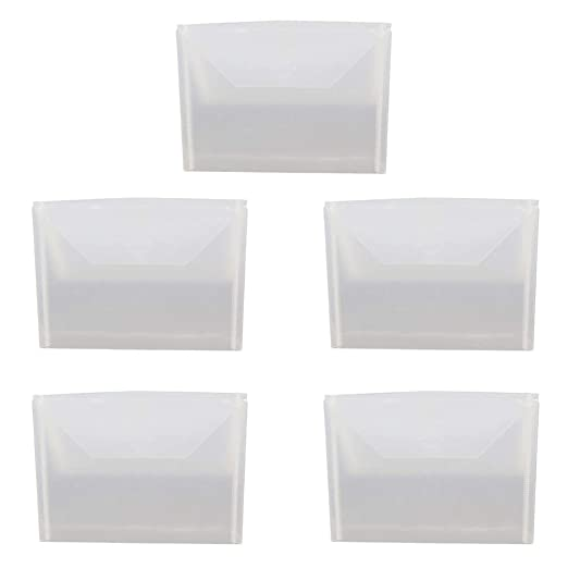 5 bolsas de sellado transparentes con cierre reutilizable de ...
