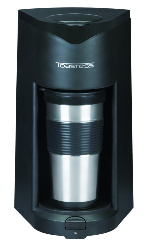 Salton TFC-25T Toastess Silhouette 800-Watt Personal-Size Coffeemaker with Stainless-Steel Travel Mug, Black