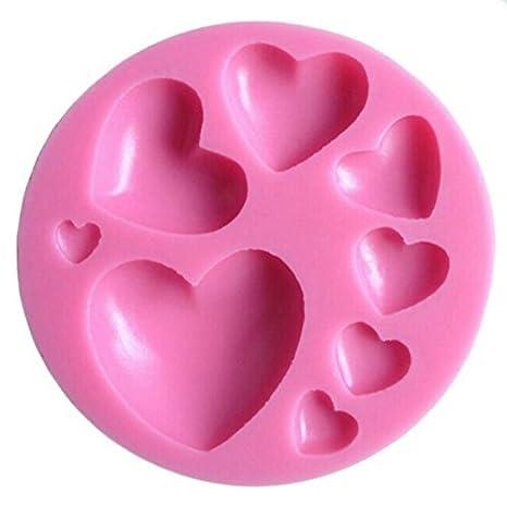 Cosanter Hornear Herramientas de BRICOLAJE Amor Fondant Cake Molde de Silicona Molde de Silicona en Forma de Corazón de Chocolate Molde de Jabón: Amazon.es: ...