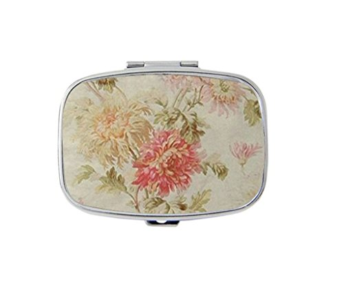 Antique French Floral Toile Personalized Custom HOT Sale stainless steel Pill Case Box Medicine