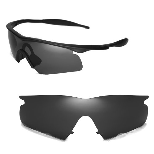 Walleva Replacement Lenses for Oakley M Frame Hybrid Sunglasses - Multiple Options Available (Black - ()