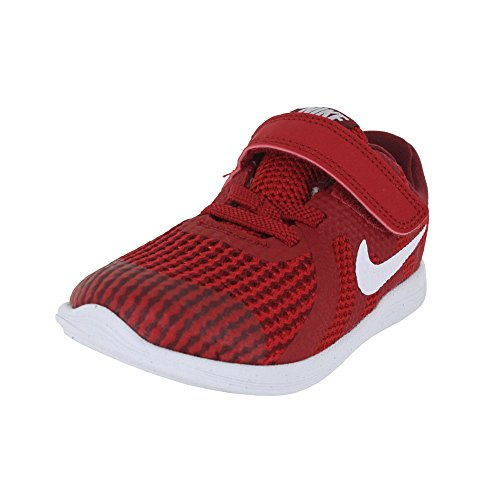 NIKE Toddler Revolution 4 (TDV) Gym Red White Team Red Black Size 10 (Nike Kids Shoes Size 10)