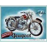 PLAQUE METAL 20X15cm MOTOCYCLETTES VELOMOTEURS PEUGEOT