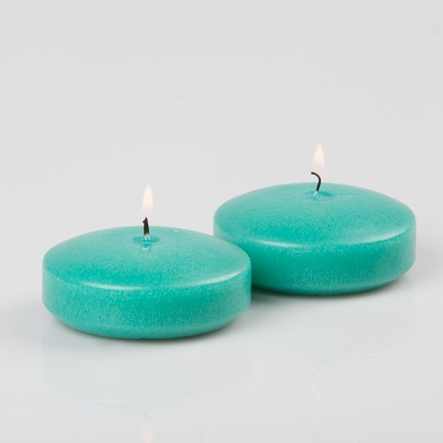 Aqua Floating Candles (3