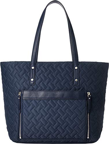 (Cole Haan Women's Quilted Nylon Tote Navy One Size)
