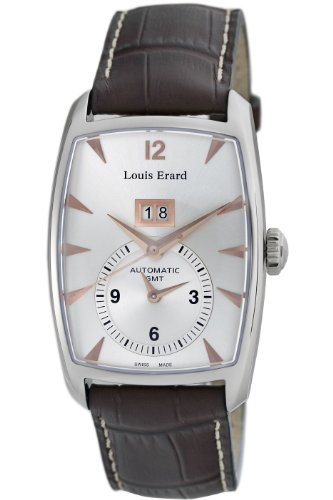 Louis Erard Men's '1931' Automatic Stainless Steel and Leather Dress Watch, Color:Brown (Model: 82210AA01.BDC52