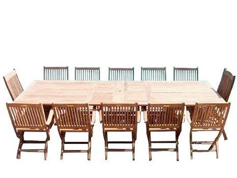 Fabulous Zennor 12 Seater Garden Set Solid Teak Rectangular Ibusinesslaw Wood Chair Design Ideas Ibusinesslaworg
