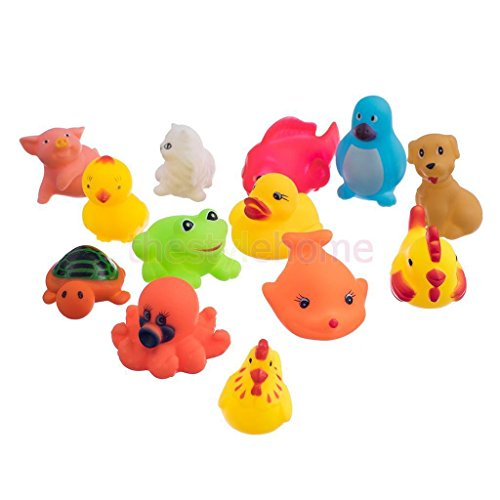 Jake's Soft Pirate Sword (13Pcs assorted cute soft rubber float sqeeze sound baby wash bath play toy, animals toys)