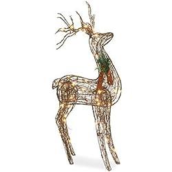 """Noma/Inliten-Import V53135-88 48"""" Grapevin Stand Deer"""