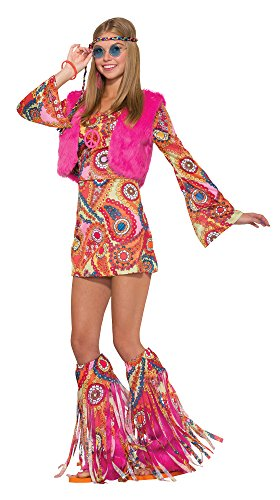 Forum Women's Hippie Girl Fur-Ever Groovy Costume, As Shown, STD