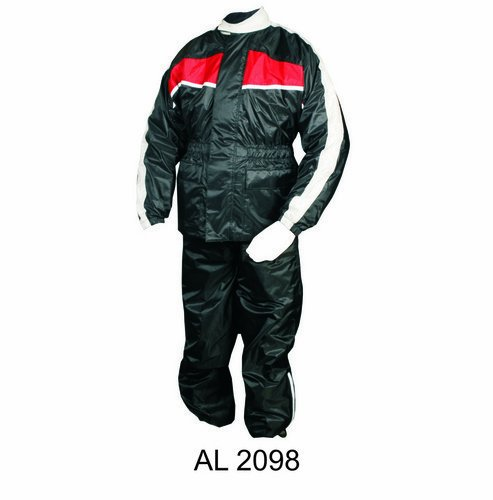 Men's Red/Black Two Piece Rain suit