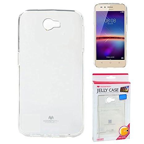 MERCURY Funda Gel TPU Silicona Transparente para Huawei Y5 II, Y6 ...