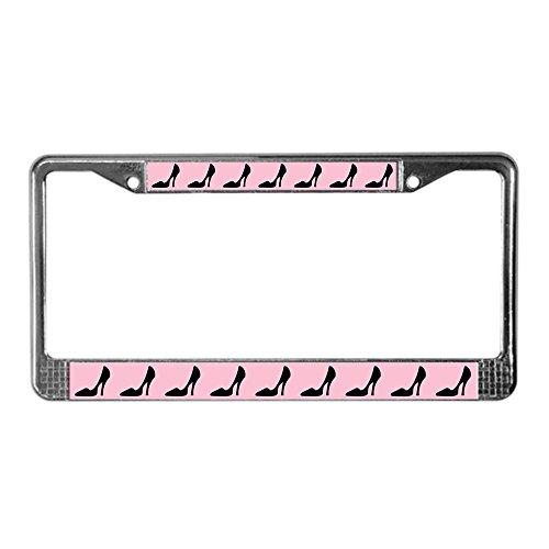 (CafePress - High Heel Shoe License Plate Frame - Chrome License Plate Frame, License Tag Holder )
