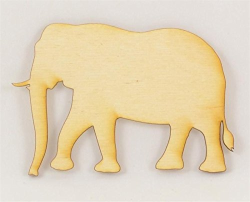 Package Of 50, Elephant Wood Cutout 4