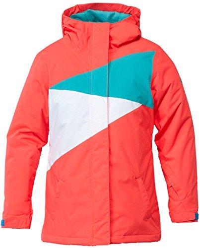 Dc Snow Jackets (DC Apparel Big Girls' Fuse K 15 Snow Jacket, Fiery Coral, 16)