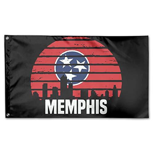 Memphis Tennessee TN Group City Trip 100% Polyester House Flag Decorative Garden Flag Yard Banner Garden Flags 3x5