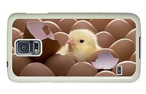 Hipster spec Samsung Galaxy S5 Case Hatched Chicken PC White for Samsung S5