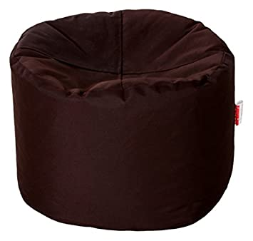 Comfy Bean Bags Bean Bag Footrest Medium Without Fillers Cover (Brown)