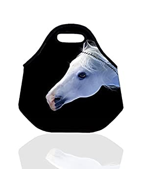 Estrellaw Quiet Horse Head Pattern Lunch Bag