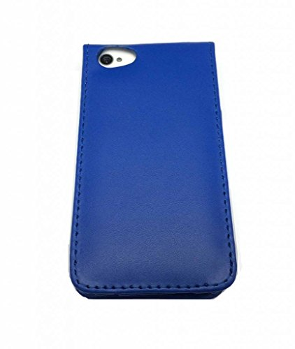 Eccellente Migliore di Apple iPhone 4 4S Blu diapositive Flip con due fessure per carta PU Leather Case Cover per Apple iPhone 4 4S