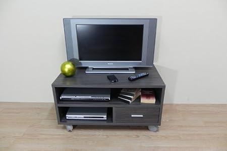 Azor - Mesa tv 90 con ruedas, medidas 90 x 50 x 40 cm, color ceniza: Amazon.es: Hogar
