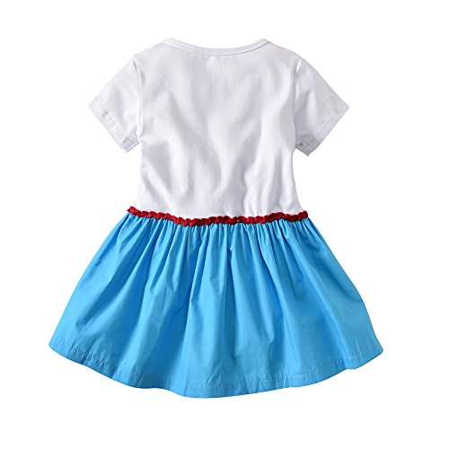 87aded877078 ALLAIBB Toddler Girls Romper Frilly Dress Soccer Pattern Short Sleeves   Amazon.co.uk  Clothing