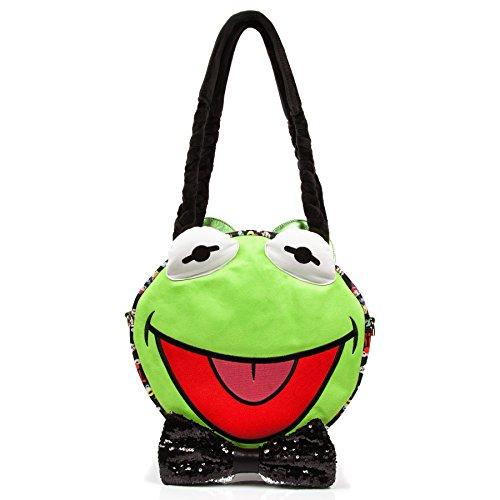 Irregular Choice Disney World Hip Hop Happy Kermit the Frog Muppets Large Bag New by Irregular Choice