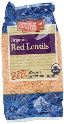 Arrowhead Mills Organic Red Lentils 16 OZ (Pack of 18) by Unknown