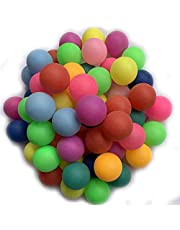 Jedulin 40MM Ping Pong Balls, 50 Pack Assorted Colored Tennis Balls Multi Color Plastic Balls Fun Beer Ping Pong Balls Bulk for Beer Pong Balls, Arts and Craft, Party Decoration, Cat Balls